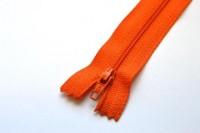 Reißverschluss, dunkles orange