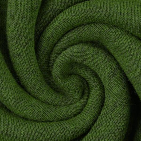 Kuschelsweat, dunkelgrün-meliert, *Letztes Stück ca. 50 cm*