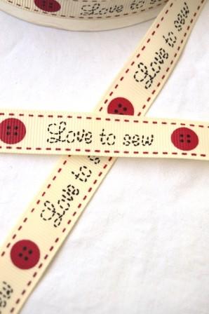 Love to sew, Ripsband
