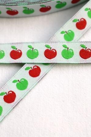 Äpfelchen, grün-rot, Webband