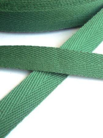Köperband 10 mm, grün
