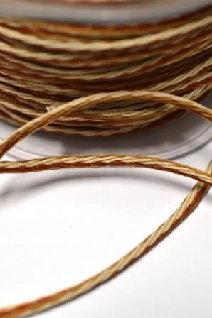 Vielfarbige Kordel, 4 mm, beige-braun *SALE*