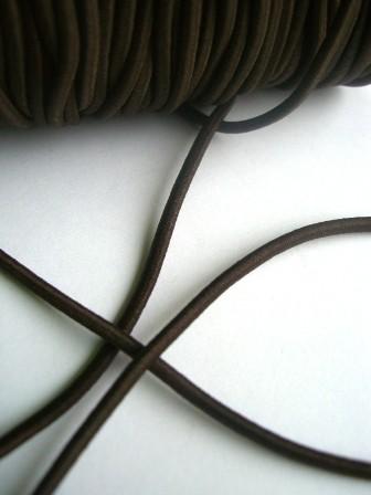 Gummischnur, 3 mm, dunkelbraun