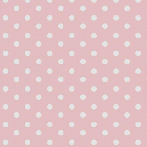 Lili Punkte mittel rosa, Webstoff