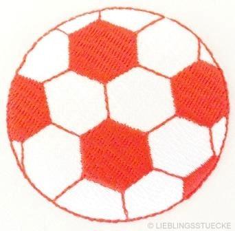 Applikation Fußball, rot