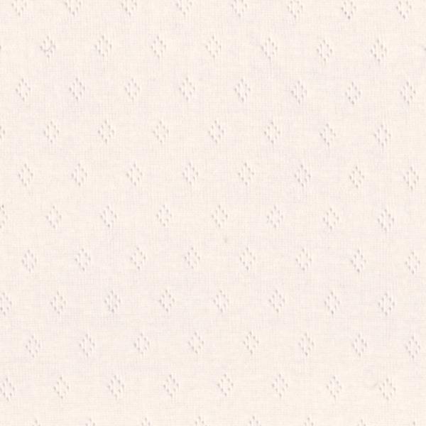 Pointelle-Jersey mit Lochmuster offwhite