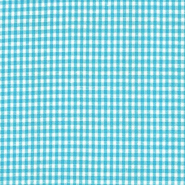 Vichykaro, klein, türkis-weiß kariert, waschbar bei 60°