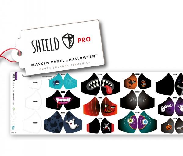 Maskenstoff Shield Gespenster/rund für 12 Masken, Paneel, Trevira-Jersey, waschbar bei 90°