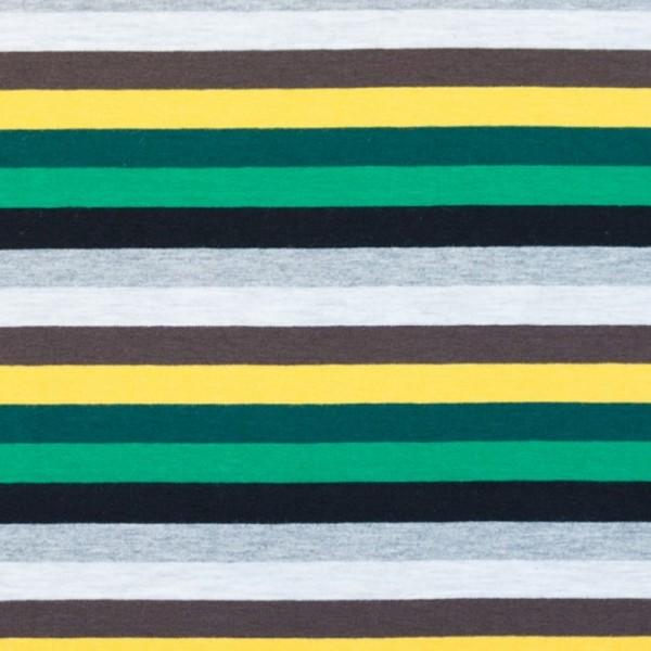 Multicolor Streifen grün-gelb-grau, Jersey