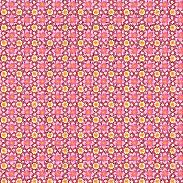 Baumwollpopeline, Leya pink/rot
