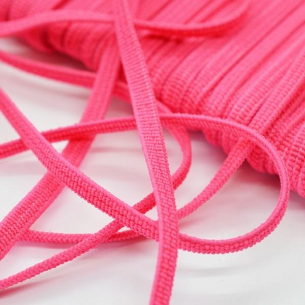 Flachgummi, helles pink, 5 mm
