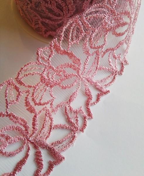 breite Tüllspitze, irisierend rosa