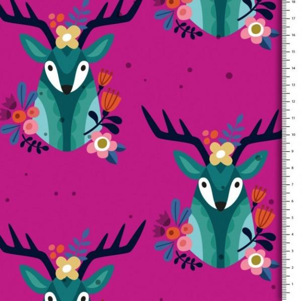 Köper-Druck Cozy Cabin Rudolph pink