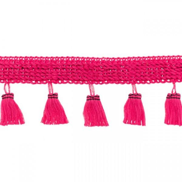 Quastenborte, pink