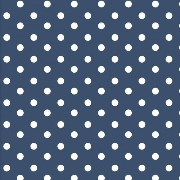 Lili Punkte mittel, indigo, Webstoff, waschbar bei 60°