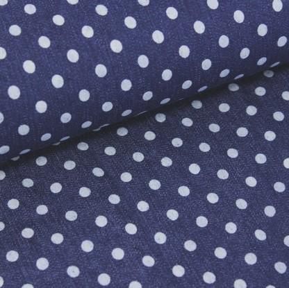 Sommerjeans, Small Dots dunkelblau