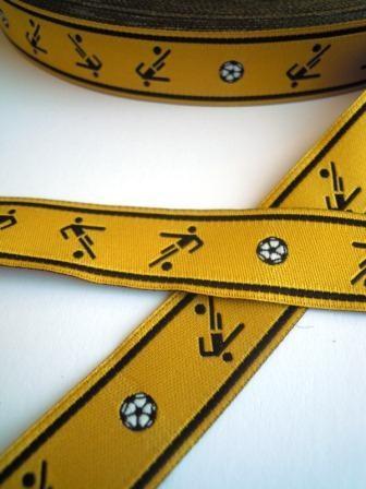 Torjäger, gelb, Webband