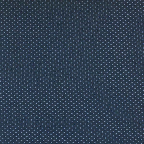 Emil, Minipunkte, jeansblau auf dunkelblau, Jersey