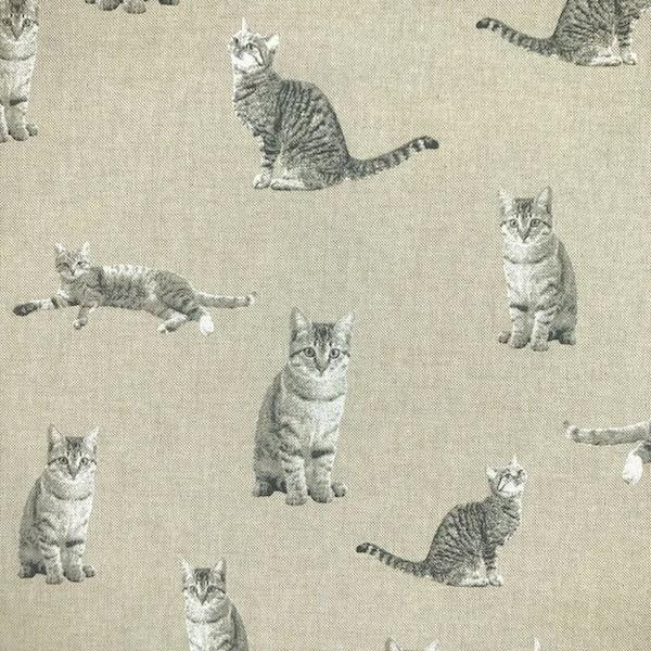 Kätzchen auf leinen, Dekostoff