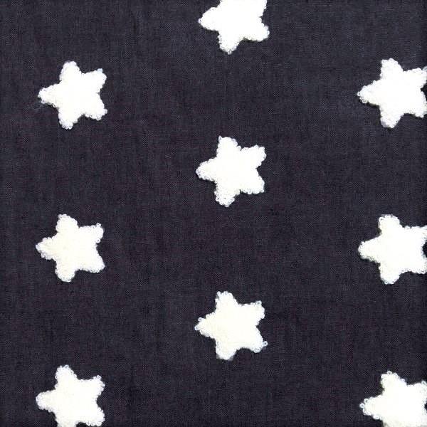 Sommerjeans mit 3D Sternen dunkles jeansblau, *SALE*