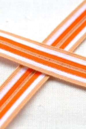 Gummiband, orange-braun, 15 mm