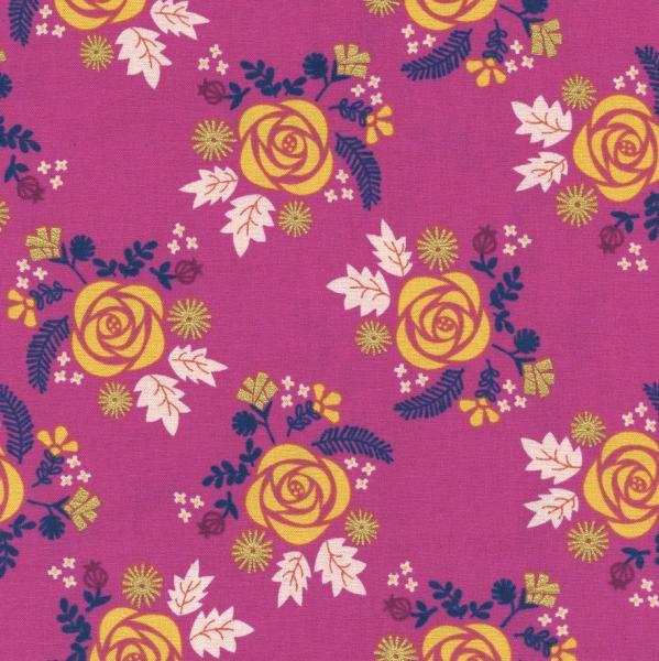 Cotton+Steel, Akoma Blumen pink, Webstoff