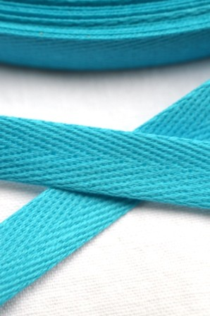 Köperband, 10 mm, türkis