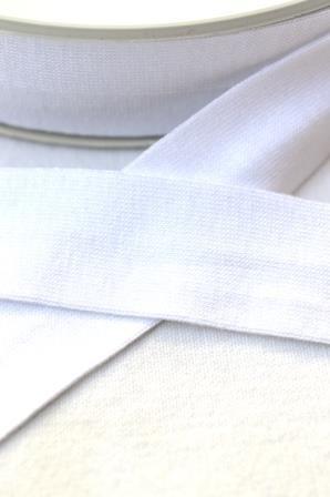 Viskosejersey-Schrägband, weiß