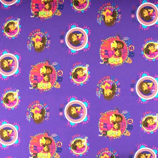 Dora And Friends lila, Jersey, *Letztes Stück ca. 100 cm*