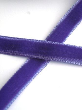 Samtband, 9 mm, dunkles violett