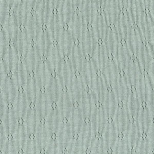 Pointelle-Jersey mit Lochmuster dunkles mint