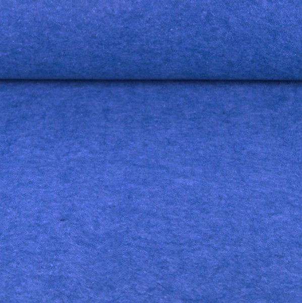 Filz 3 mm dick mittelblau-meliert
