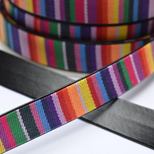 Kunstledergurtband, regenbogen