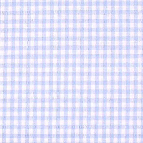 Vichykaro, mittel, hellblau-weiß kariert