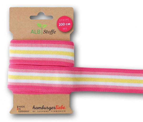 Stripe Me College XXL Band, pink-gelb
