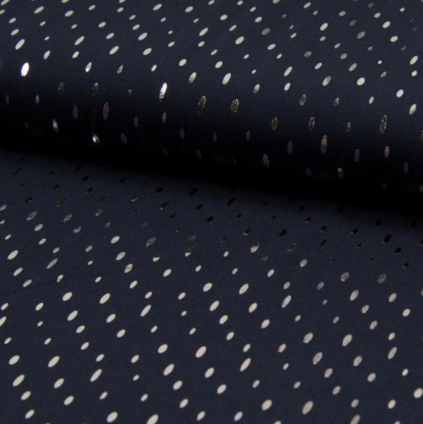 Viskosewebstoff Foil Print schwarz