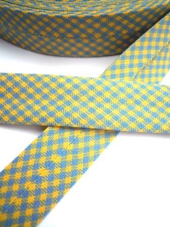 Westfalen Schrägband, karo blau-gelb