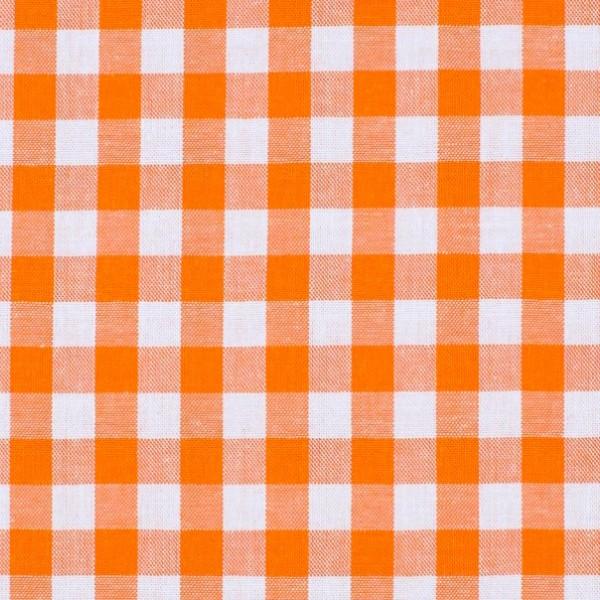 Vichykaro, groß, orange-weiß kariert