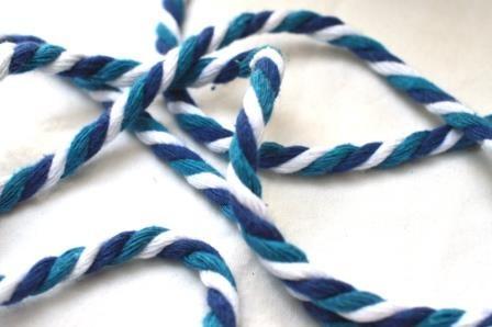 Baumwollkordel, S, blau/weiß *SALE*