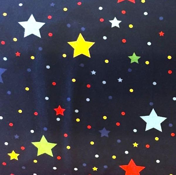 Wonderstars bunt auf dunkelblau, Jersey