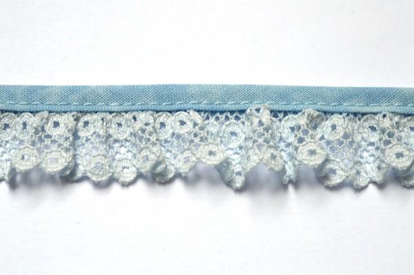 Netzspitze, hellblau, 20 mm