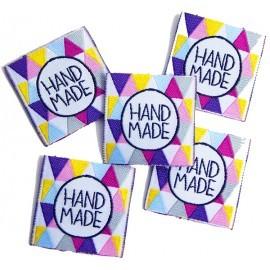 Hand made, Geometrix bunt, Webetikett