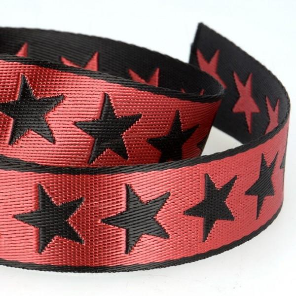 Gurtband, Sterne rot, beidseitig