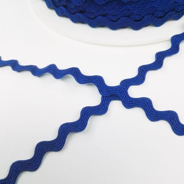 Viskosezackenlitze 6 mm, royalblau