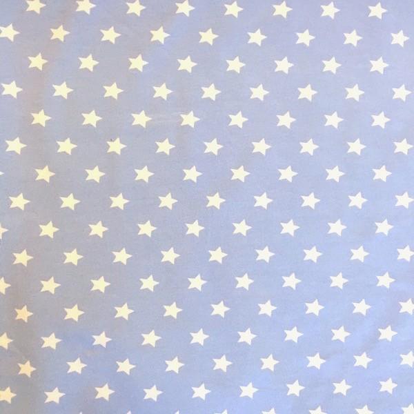 Emil, kleine Sterne, weiß auf hellblau, Jersey
