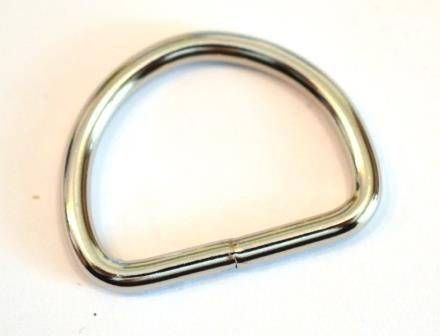 Geschweißter Halbring, 40 mm, silber