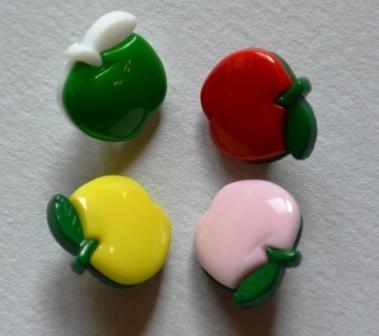 Apfel, zweifärbig, Knopf