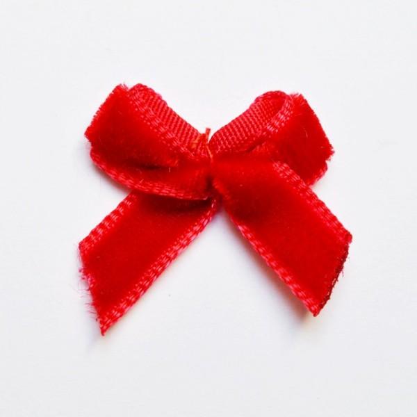 Samtschleife, rot