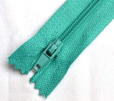 Reißverschluss, türkisgrün