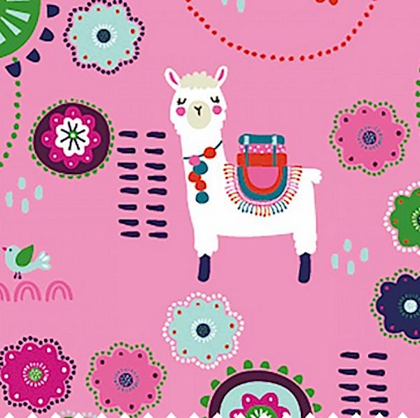 Boho-Lamas, pink, Jersey